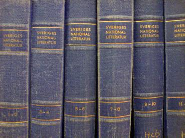 nationallitteratur bokrygg uppslagsbok