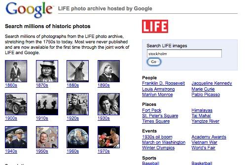 Google och Lifes bildarkiv