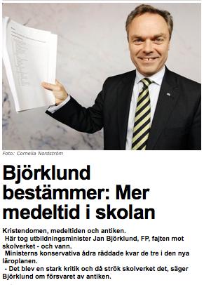 Björklund: Mer medeltid i skolan